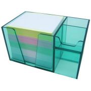 Organizador de mesa verde clear c/papel color 956 5   Acrimet