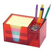 Organizador de mesa vermelho c/papel color 956 7   Acrimet