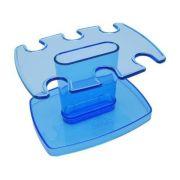 Porta carimbo modular p/6 lug. azul clear 806 2