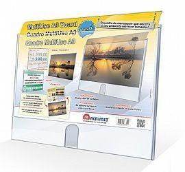 Quadro Acrimet 873.0 multiuso A3 cristal caixa com 3 un