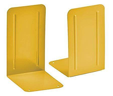 Kit com 6 pares de Suporte Livro Acrimet premium 292.6 cor amarelo