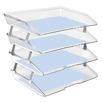 Caixa para correspondencia Acrimet 256 3 quadrupla quatro andares facility lateral  cristal