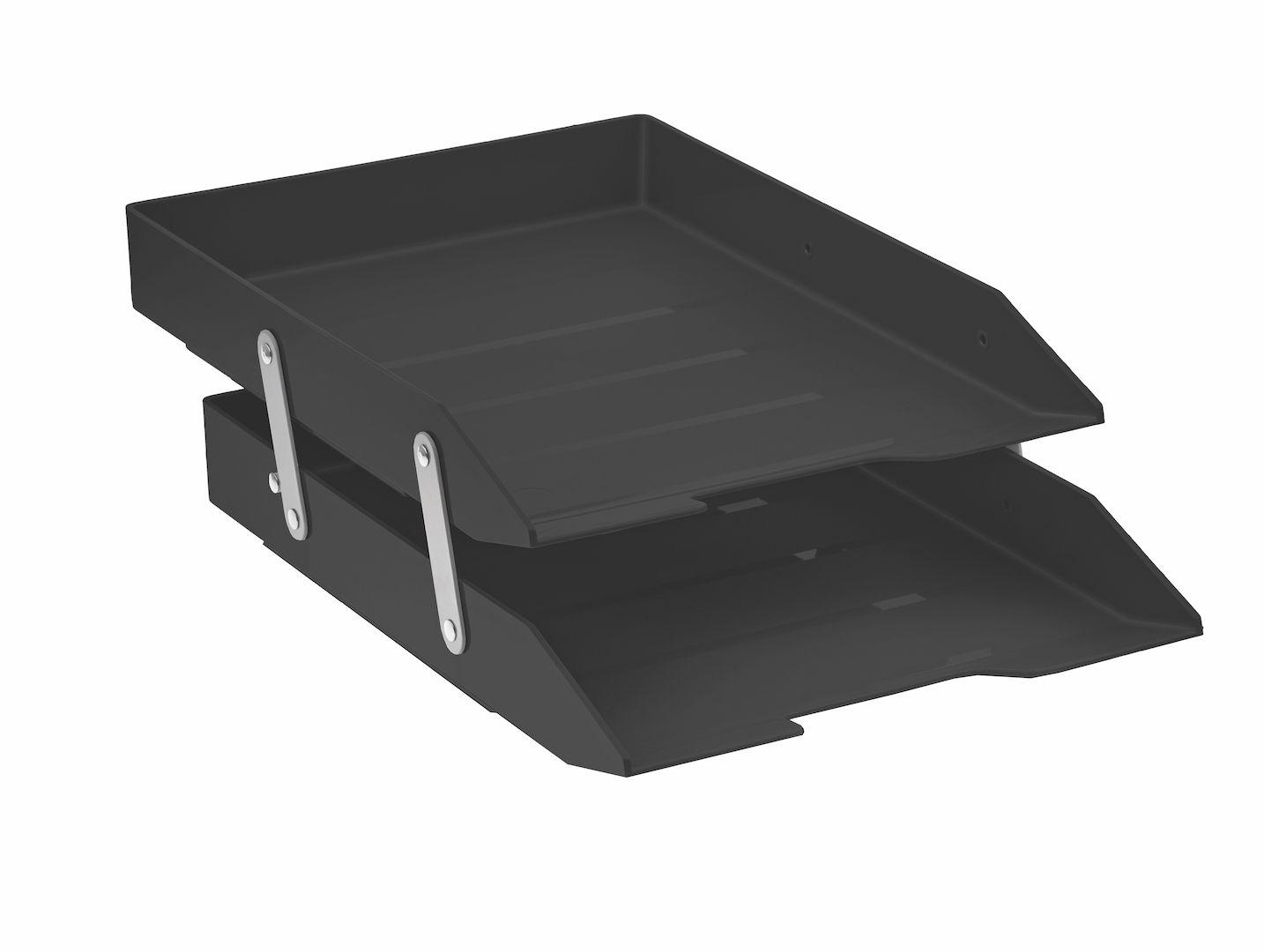 Caixa para correspondencia Acrimet 243.4 dupla articulada cor preto