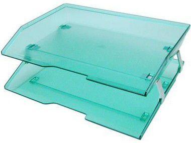 Caixa para correspondencia Acrimet 253.5 dupla facility lateral verde clear