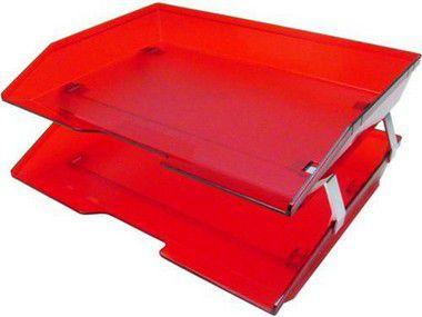 Caixa para correspondencia Acrimet 253.7 dupla facility lateral vermelho clear