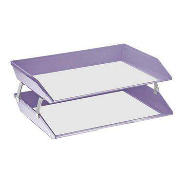 Caixa para correspondencia Acrimet 253.LO dupla facility lateral lilas solido