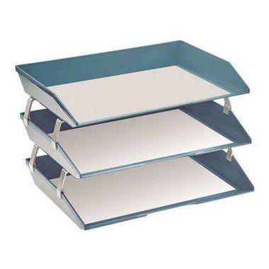 Caixa para correspondencia Acrimet 255.AO tripla faciliti lateral azul solido