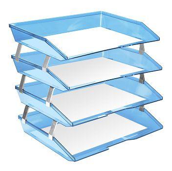 Caixa para correspondencia Acrimet 256.2 quadrupla quatro andares facility lateral cor azul clear
