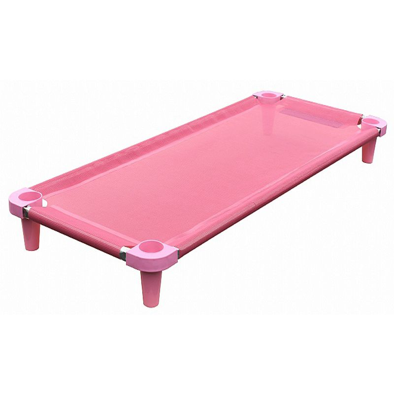 Cama infantil de bebe Acrimet empilhável 713 manta e pés na cor rosa cx com 2 unidades