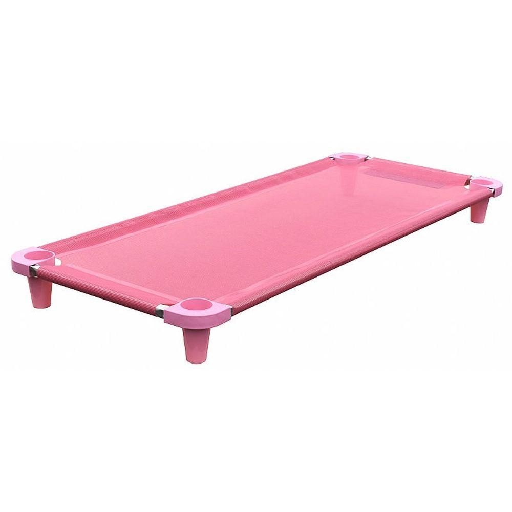 Cama infantil de bebe Acrimet empilhável 713 manta e pés na cor rosa cx com 5 unidades