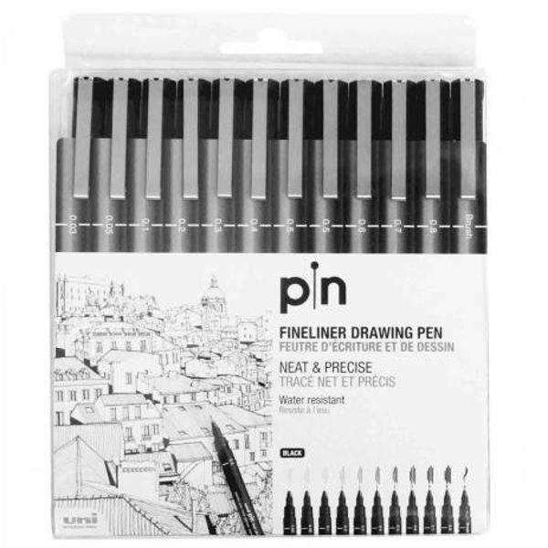Caneta Pin 200 Nankin estojo com 12 unidades