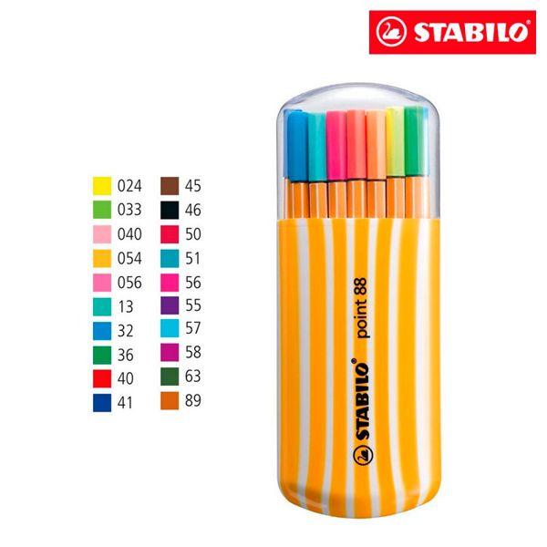 Caneta Stabilo  8820 - estojo com 20 unidades - Stabilo