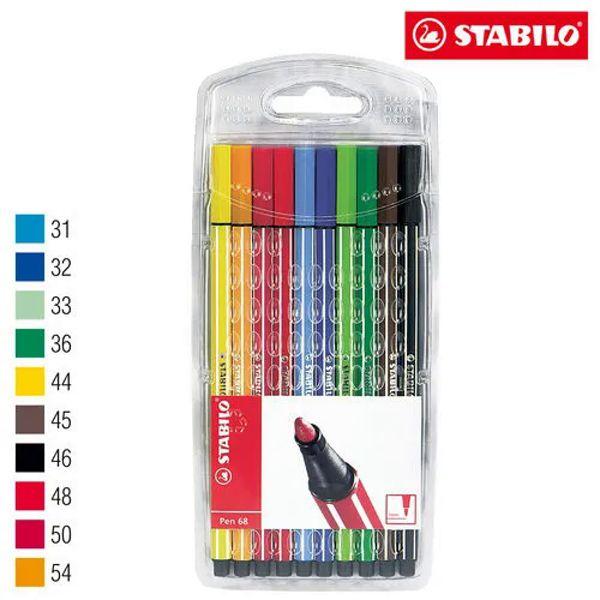 Caneta Stabilo Pen  6810 - estojo com 10 unidades - Stabilo