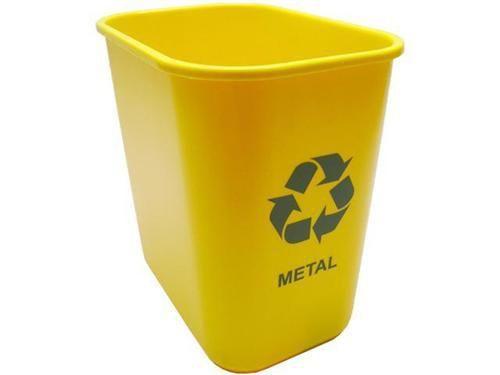Cesto Acrimet 574.1 retangular coleta seletiva 24 litros cor amarela para metal