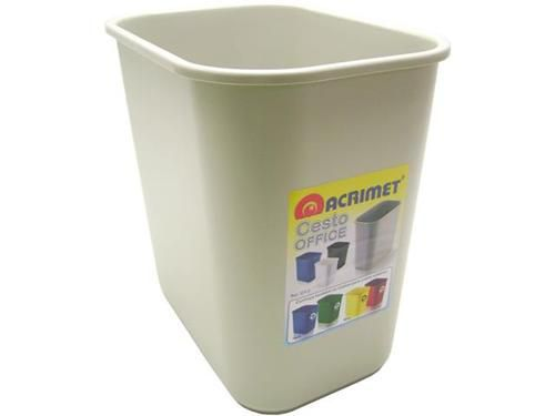 Cesto Acrimet para escritorio 571.1 retangular 12 litros gelo