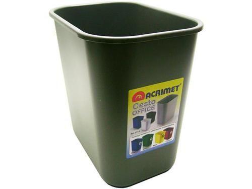 Cesto Acrimet para escritorio 571.3  retangular 12 litros grafite