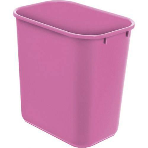 Cesto Acrimet para escritorio 571.9 retangular 12 litros rosa