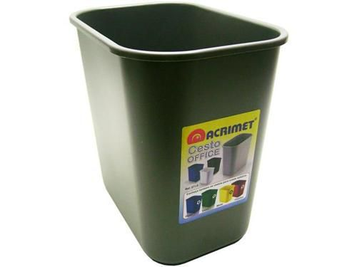 Cesto Acrimet para escritorio 573.3 retangular 24 litros grafite