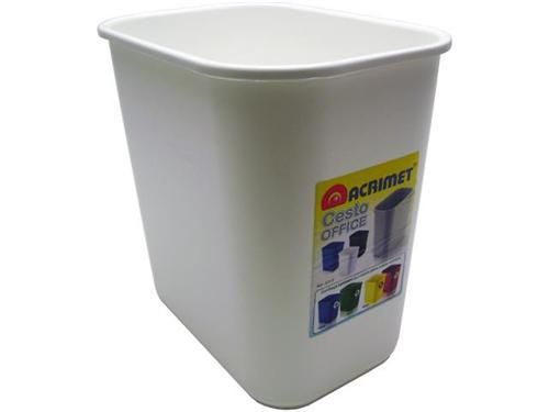 Cesto Acrimet para escritorio 573.5 retangular 24 litros branco