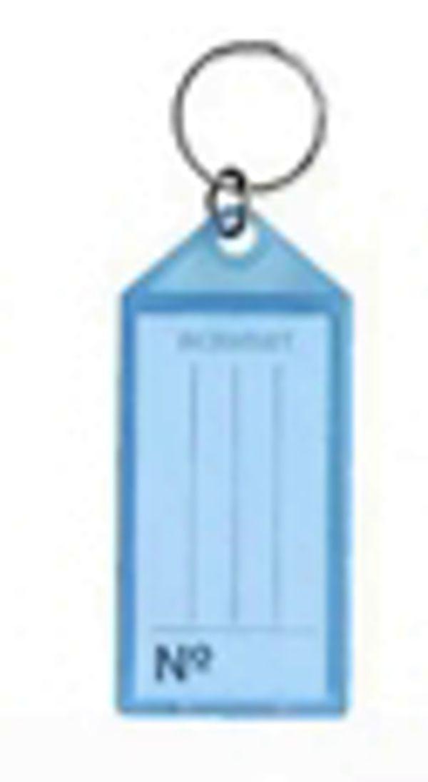 Chaveiro Acrimet 140 plastico com etiqueta de identificação cor azul