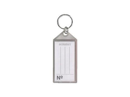 Chaveiro Acrimet 140 plastico com etiqueta de identificação cor fume