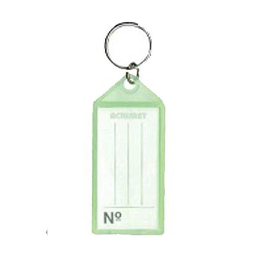 Chaveiro Acrimet 140 plastico com etiqueta de identificação cor verde neon