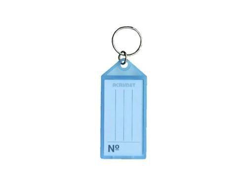 Chaveiro Acrimet 142 0 com etiqueta de identificação  pote com 60 chaveiros cor azul