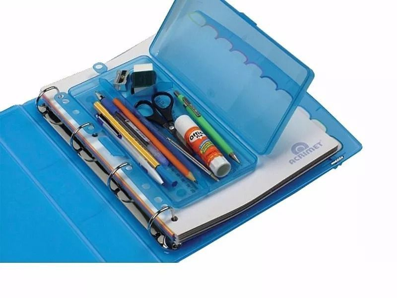 Conjunto Acrimet 838 1 de fichario universitario com o estojo teen box