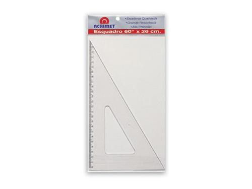 Esquadro Acrimet 531.0 escolar de 30 x 60 graus com 21 cm de comprimento