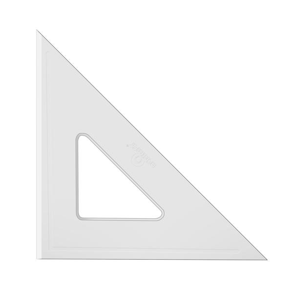 Esquadro Acrimet 540.2 de 45 graus com 21 cm de comprimento SEM ESCALA
