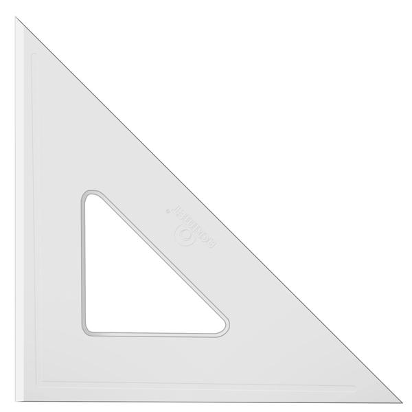 Esquadro Acrimet 540.4 de 45 graus com 26 cm de comprimento SEM ESCALA