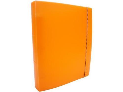 Fichario Acrimet 803 8  pasta vip oficio 3 argolas cor cenoura neon