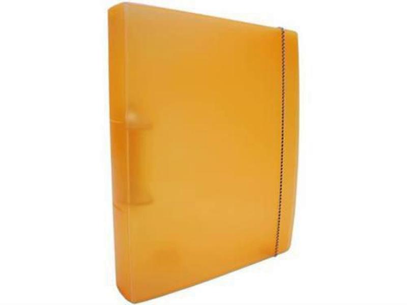Fichario Acrimet 802.9  pasta vip oficio 2 argolas cor cenoura neon