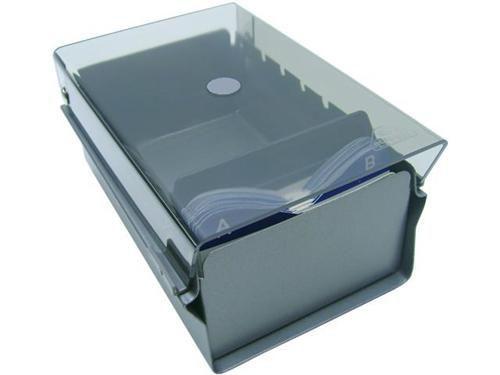 Fichario Acrimet 910 1 de mesa para cartao de visita com indice cor fume