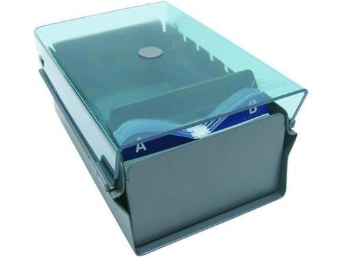 Fichario Acrimet 910 5 de mesa para cartao de visita com indice cor verde clear