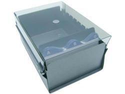 Fichario Acrimet 911.1 de mesa para ficha 3x5 sem indice cor fume
