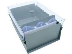 Fichario Acrimet 911.3 de mesa para ficha 3x5 sem indice cor cristal
