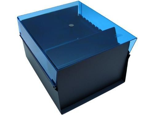 Fichario Acrimet 914.2 de mesa para ficha 6x9 sem indice cor azul clear
