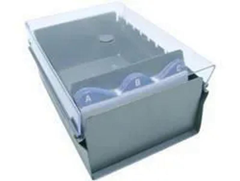 Fichario Acrimet 921.3 de mesa para ficha 3x5 com indice cor cristal