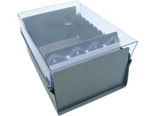 Fichario Acrimet 922.3 de mesa para ficha 4x6 com indice cor cristal