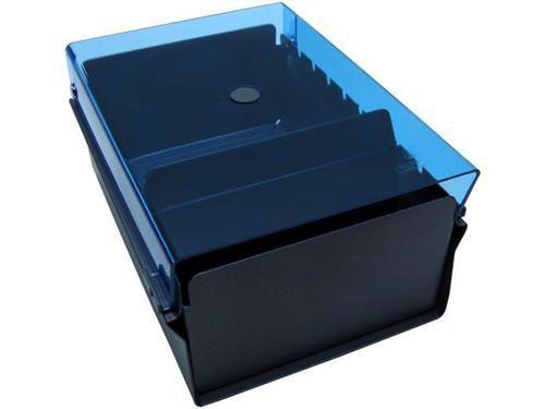 Fichario Acrimet 911 2 de mesa para ficha 3x5 sem indice cor azul clear