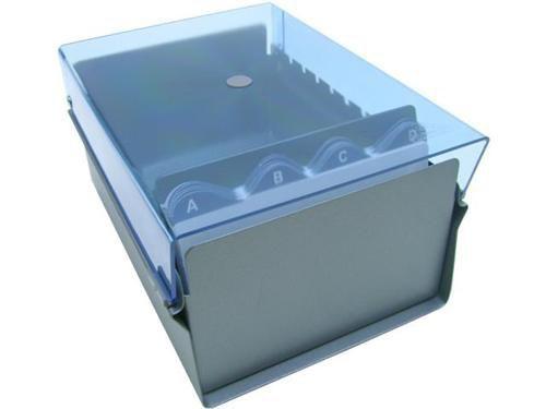 Fichario Acrimet 922 2 de mesa para ficha 4x6 com indice cor azul clear