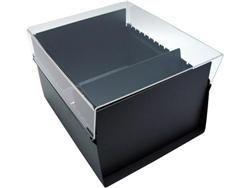 Fichario Acrimet 912 3 de mesa para ficha 4x6 sem indice cor cristal
