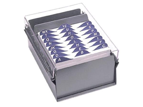Fichario Acrimet 923 3 de mesa para ficha 5x8 com indice cor cristal