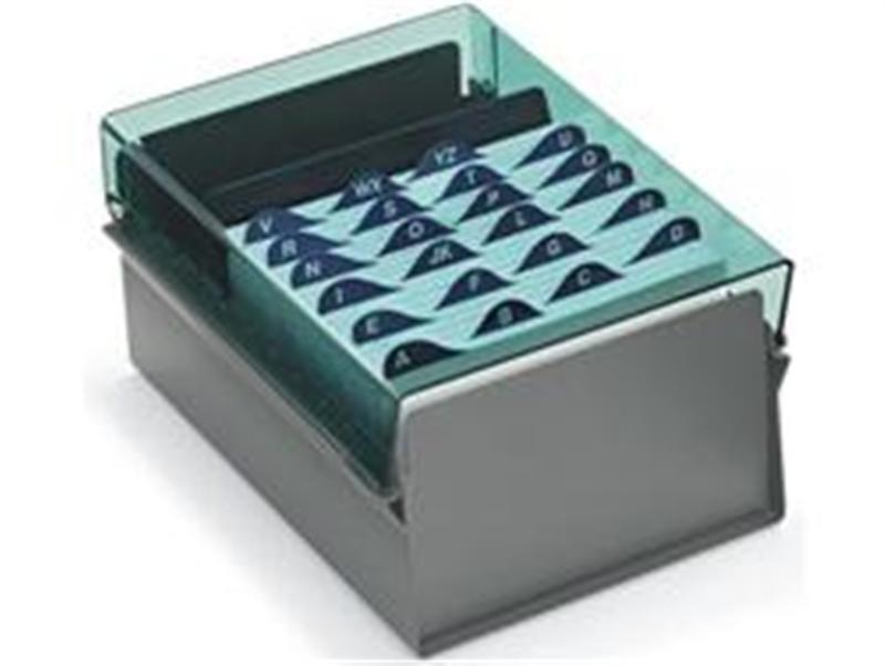 Fichario Acrimet 924 5 de mesa para ficha 6x9 com indice cor verde clear
