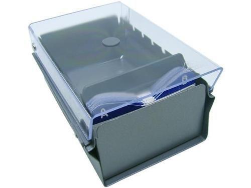 Fichario Acrimet 910 3 de mesa para cartao de visita com indice cor cristal