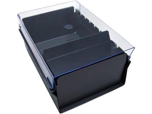 Fichario Acrimet de mesa 914 3  para ficha 6x9 sem indice cor cristal