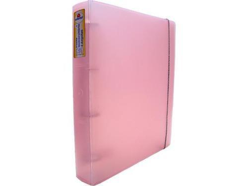 Fichario Acrimet 805 3 universitario oficio 4 argolas cor rosa