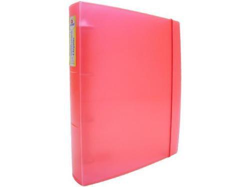 Fichario Acrimet universitario 805  oficio 4 argolas cor vermelho neon