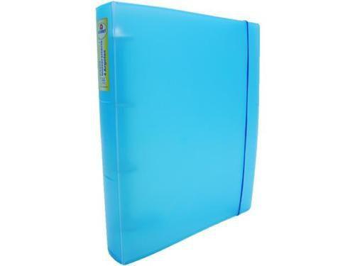 Fichario Acrimet 804 2 universitario oficio 4 argolas cor azul claro caixa com 12 unidades